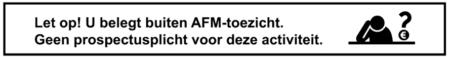 Banner buiten AFM toezicht